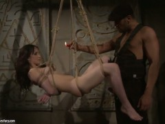 Aleksandra Black is in heaven blowing dudes thick rod