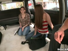 Bang bus adventures with Abby Cross and Nickey Huntsman