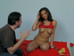 Brunette gets hardcored