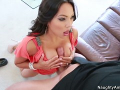 Latin Adrianna Luna and hot dude Billy Glide have vigorous sex