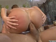 Lewd amateur Linda Ray downs asshole on big cock