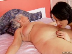 With big knockers fulfills her sexual needs with Norma